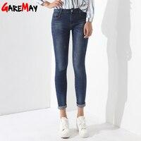 Skinny Jeans de Mezclilla Femenina Pantalones Vaqueros Básicos de Las Mujeres Feminino Vaqueros Mujer Ladies Jean Femme Ropa Mujer Primavera GAREMAY 1229
