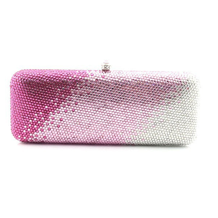 XIYUAN BRAND Women pink white Evening Bag Luxury Wedding Party Bags Diamond Rhinestone Clutches Crystal Bling Clutch Bags Purses xiyuan brand gold party purse bags women luxury silver crystal evening bags female pochette diamond ladies wedding clutch bags