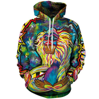 3D Hoodies Men Psychedelic Monkey 3d Printed Sweatshirts Autumn Winter Women Pullover Mens Casual Cap Tracksuit