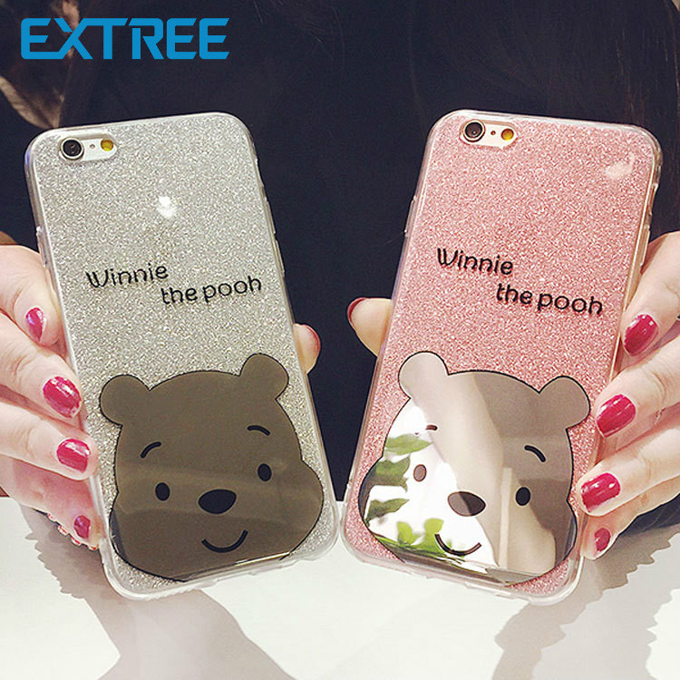 EXTREE Case for iPhone Case All Inclusive Flash for iphone7plus Cover Cartoon Phone Case