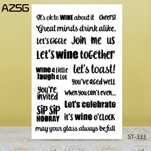 AZSG Exciting Carnival Word Clear Stamps/Seals For DIY Scrapbooking/Card Making/Album Decorative Silicone Stamp Crafts