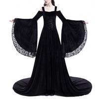Vintage Renaissance Princess Gothic Maxi Dress Retro Costume Medieval Gown 1970s Women Long Dress Christmas Party Vestidos 5XL