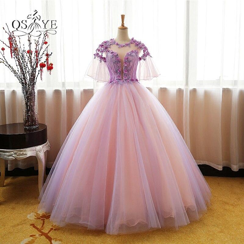 Vintage Saudi Arabia 3d Floral Lace Prom Dresses 2017 Ball