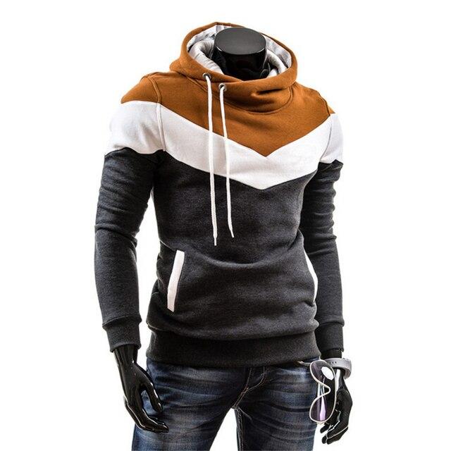 Hip Hop Hoodies Men 2017 Brand Clothing Streetwear Winter Patchwork Color Hooded Hoodie Thickening Sweatshirt Sportsman Wear
