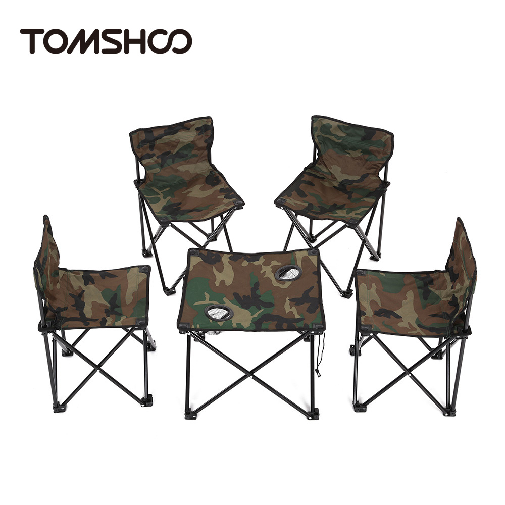 1 * Foldable Table 4 * Foldable Chair 1 * Storage Bag