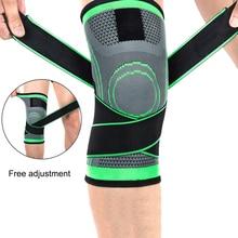цена на 1pcs 3d Weaving Pressurization Knee Brace Basketball Hiking Cycling Knee Support Professional Protective Sports Knee Pad