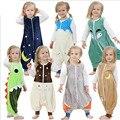 Roupas de bebê de Varejo do bebê Recém-nascido Saco de Dormir Polar Roupas infantis sacos de dormir estilo Longo-sleeved Romper para 0-2A