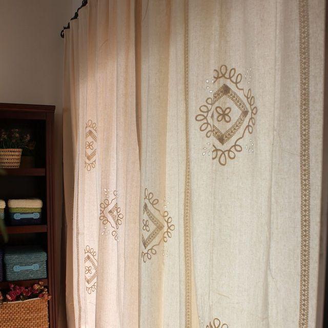 Grecia stile vintage cotone grezzo tenda soggiorno con crochet della ...