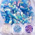 2g de Escamas de Pescado Nail Art Lentejuelas Merimaid Hexagonal Glitter Uñas Consejos Decoraciones