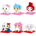 YZ Hello Kitty Diamond blocks action Figures Model Toys Kitty Cat Anime Building Blocks Diamond blocks gifts toys for Children