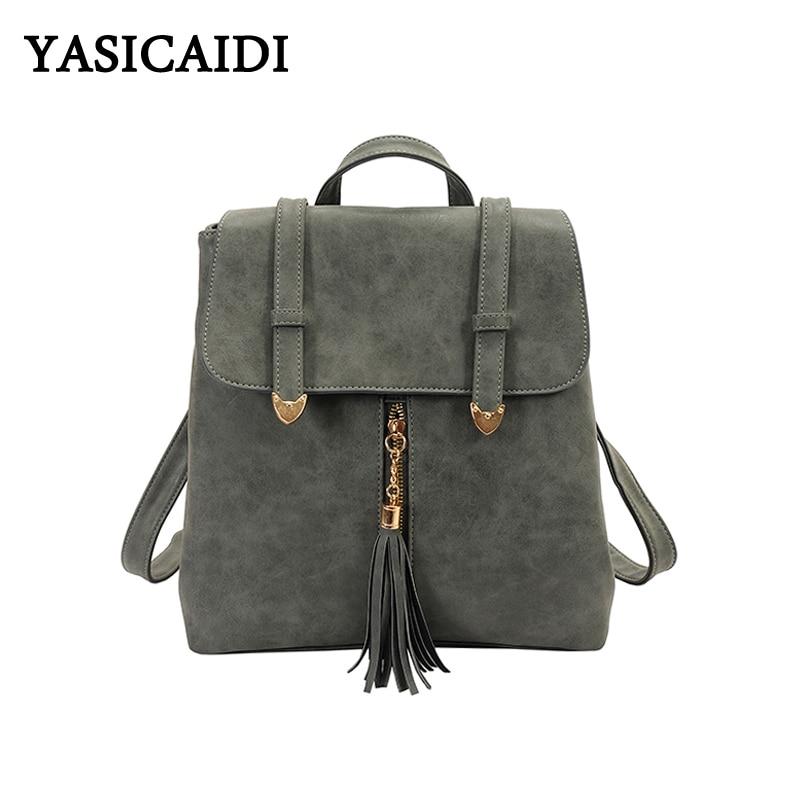 mulheres mochila pu bolsa de Marca : Yasicaidi