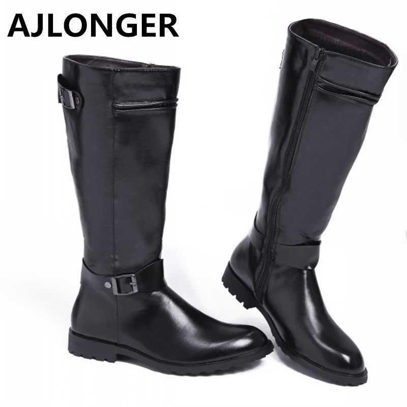 Male High Boots Handsome Male Boots Pro Denim Boots Riding Boots Simple Popular Drop Shipping