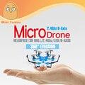 2016 Minitudou Micro Drone 4CH 2.4G Sin Cabeza RC Modelo de Helicóptero de Juguete Con 6 Motor Súper UFO Drone Predator de Bolsillo cuadricóptero