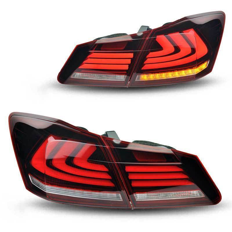 Vland Car Styling For Honda Accord Sedan 4-Door 2013-2015 LED TailLights Red Smoke Brake Tail Lights red clear tail lights led brake 1 pair lh rh fit for honda accord 2013 2014 2015 4 door sedan