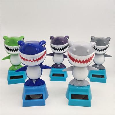 Новинка Солнечная игрушка ed танцующий откидной клапан качающийся головой игрушки для детей солнечная игрушка энергия фигурка игрушки - Цвет: Shark 1PCS