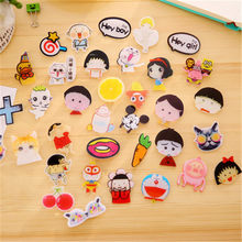 DL 61-81 Korea corsage pins sweet cute cartoon insignia brooch jewelry Harajuku female buckle funny sticker small gift(China)