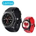 Lemse lf16 android 5.1 os teléfono smart watch mtk6580 cpu 512 MB RAM + 8 GB ROM 1.39 pulgadas de Pantalla doble Tarjeta SIM Bluetooth GPS smartwatch