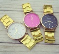 99 Hot Fashion Gold Watch Luxury Geneva Brand Women Dress Watches Men Full Steel Casual Quartz Couple Wristwatches Clock Relogio