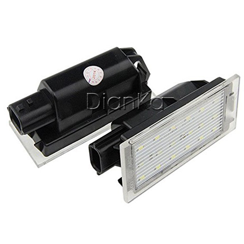 Car LED License Number Plate Light 12V White SMD For Renault Megane 2 Clio Laguna 2 Mega ...