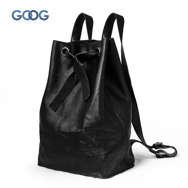New Korean version of the leather bucket type bow backpack leather zipper dark bag solid color ladies shoulder bag the other side of the road new extended version cd