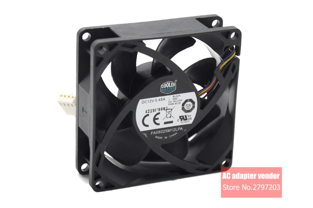 US $12 59 10% OFF|COOLER MASTER FA08025M12LPA 12V 0 45A 4 lines PWM silence  cooling fan-in Fans & Cooling from Computer & Office on Aliexpress com |