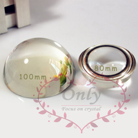 Free shipping 5-7 Days Arrive 100mm Blank Magnify Glass Dome Paperweight Home Decorative Figurines & Miniatures