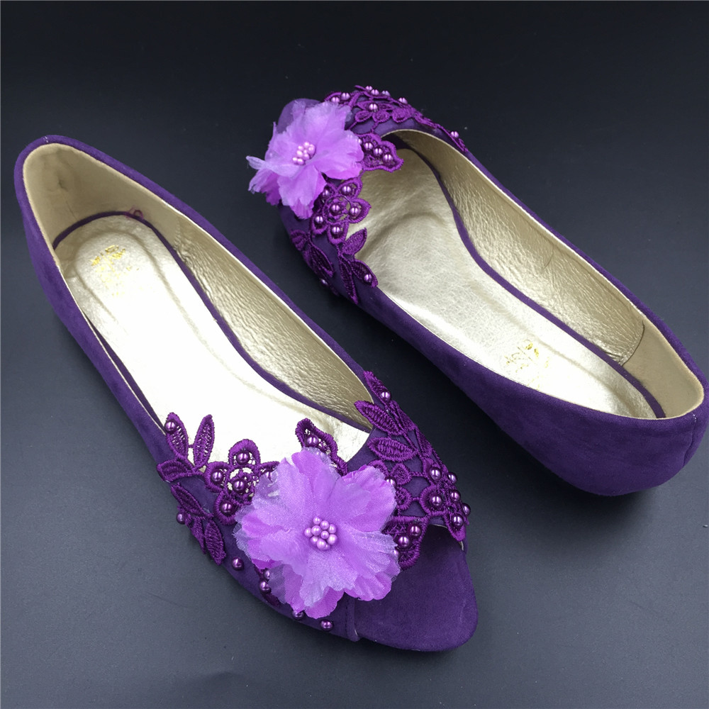a017f407c04d Women Purple Peep Toe bridal wedding shoes