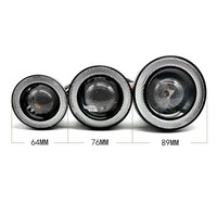 1 Pair 64mm 76mm 89mm 30W LED COB Angel Eyes Daytime Running Light Car Vehicle Universal