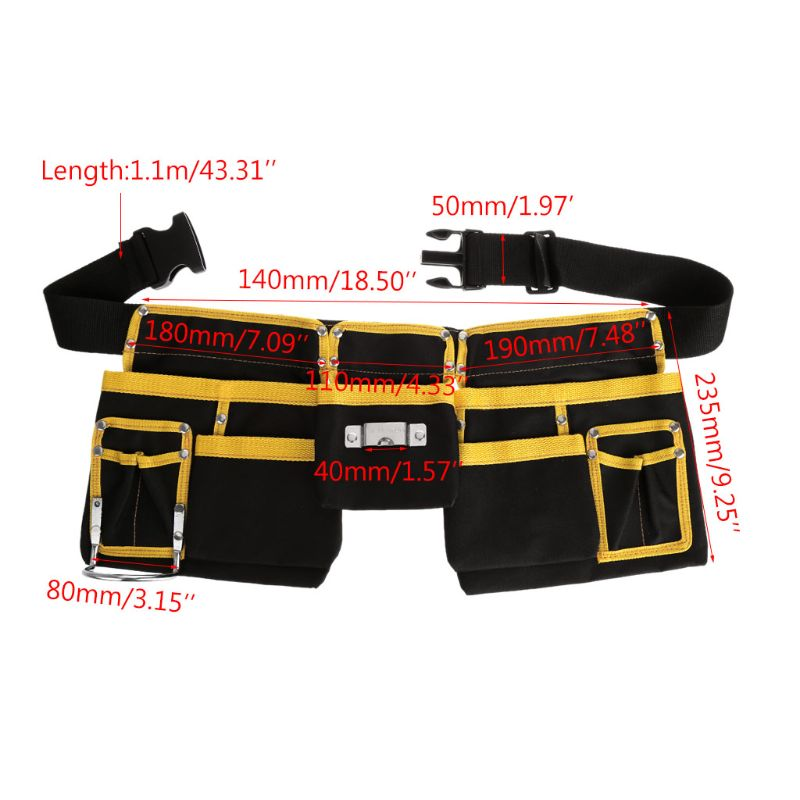 Multi-functional Electrician Tools Bag Waist Pouch Belt Storage Holder Organizer free ship 21