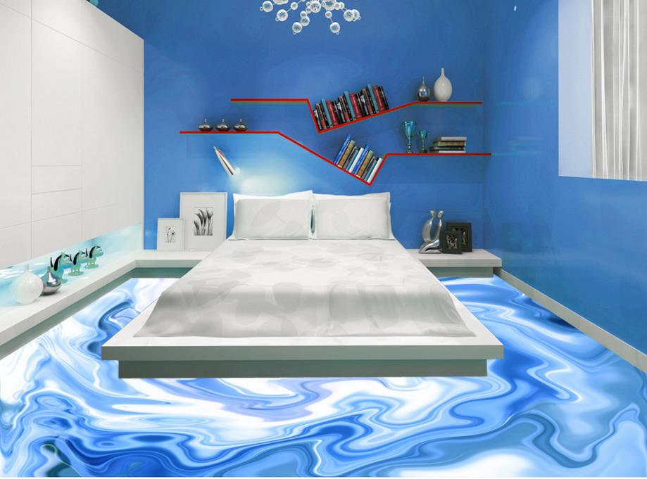 ФОТО Custom abstract floor pattern creative 3d floor murals non-slip wear self-adhesive waterproof PVC plastic tiles