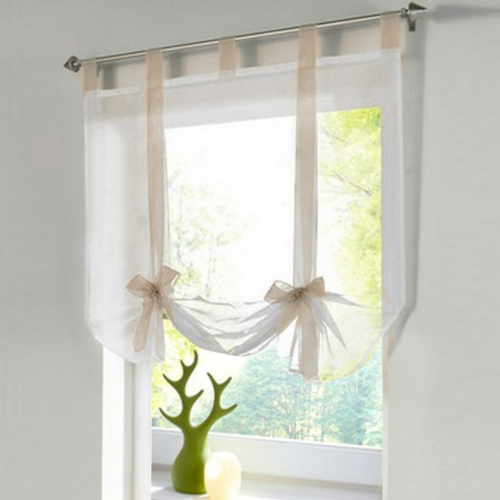 install bow window promotion shop for promotional install bow 2016new cute bow elegant sheer curtain bay window screening balcony living room ceiling installation chiffon curtain for wedding