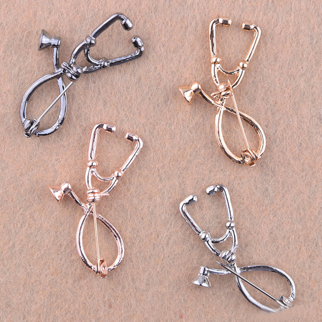 Brooch  Clothing Accessories Men Women Solid Delicate  Sale 1pc  Stethoscope  Pin Student Graduation  Gifts Physician