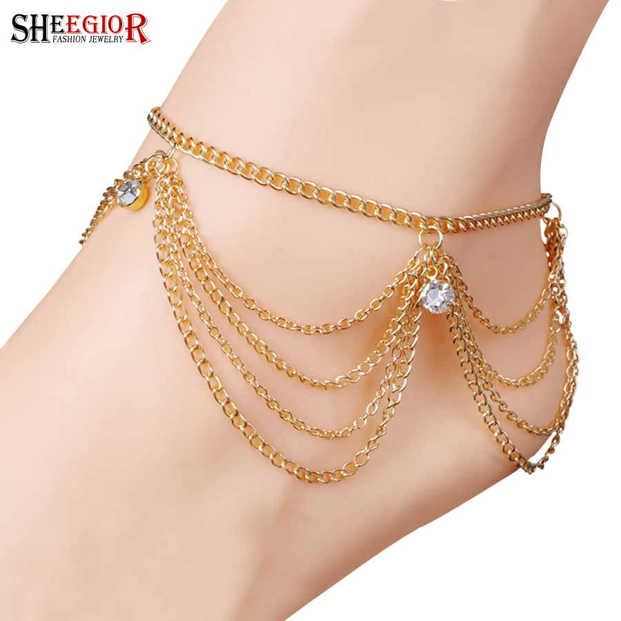 Buy gold barefoot sandals and get free shipping on AliExpress.com 8f2ba552918f
