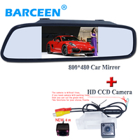2 in 1 Auto Parking Assistance System 4IR Car Rearview Camera+4.3 TFT LCD Monitor HD 170 Angle car backup camera Car Monitor