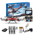 Jjrc h8d 6-axis gyro 5.8g fpv rc quadcopter câmera hd com monitor + 2 pc motor h8d jjrc rc helicóptero # yl