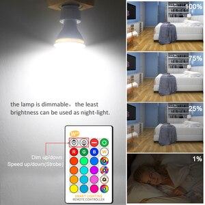 Image 5 - GU10 RGB LED Bulb 8W IR Remote Control AC 85 265V Atmosphere Lighting 16 Color Changeable Decorative Lights Warm white