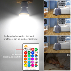 Image 5 - GU10 RGB LED ampul 8W IR uzaktan kumanda AC 85 265V atmosfer aydınlatma 16 renk değiştirilebilir dekoratif işıklar sıcak beyaz