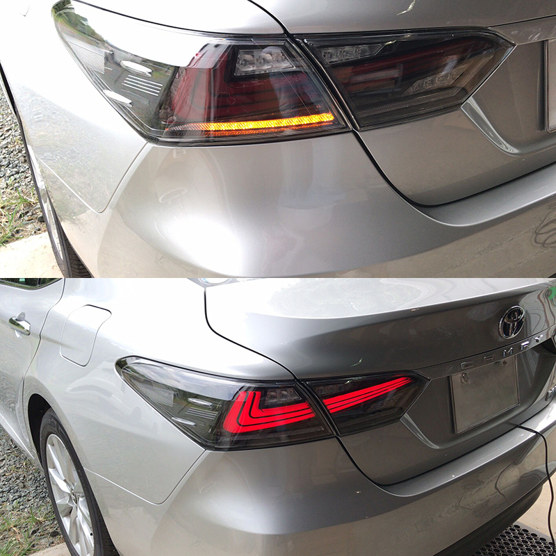 Smoke Color For 2018 New Toyota Camry Tail Light With