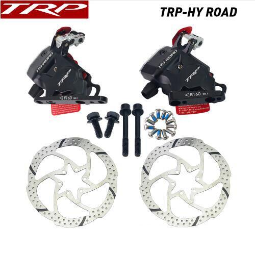 TRP HY-ROAD câble de montage plat actionné frein à disque hydraulique avant arrière 160mm, sans ou sans Rotor hy-road CX étrier de vélo noir