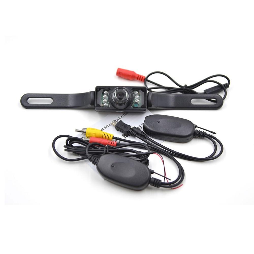 Universal Waterproof Wireless Car Rear View Camera Wide Angle Backup Reverse Camera Night Vision License Plate