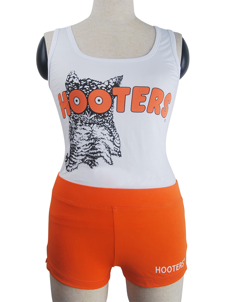 83e5b3f12aef42 Hooters uniform sexy outfit bar maid shorts tank top halloween costume-in  Holidays Costumes from Novelty   Special Use on Aliexpress.com