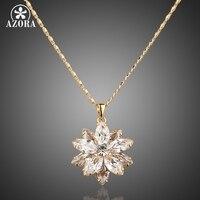 Азора Sunflow дизайн золото Цвет золото Stellux Австрийские кристаллы проложили кулон Цепочки и ожерелья TN0003