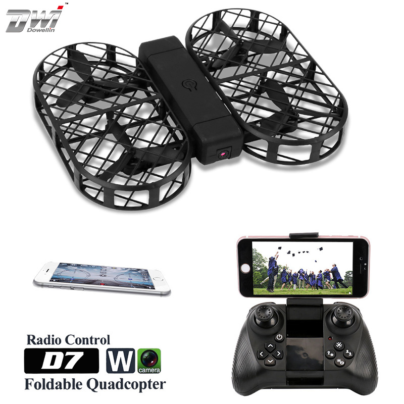 RC Quadcopter Foldable Drone with Camera hd 480P 720P FPV WiFi Control 2.4G 4CH 6 Axis Gyro with Bag Photo Video Dwi Dowellin D7 jjr c jjrc h43wh h43 selfie elfie wifi fpv with hd camera altitude hold headless mode foldable arm rc quadcopter drone h37 mini
