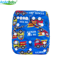 Ananbaby Machine Prints Cloth Diaper Environmental Friendly Diaper Washable Cloth Nappy For Boy