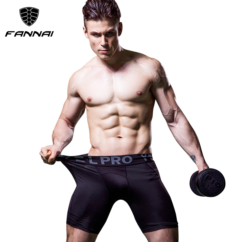 все цены на Brand Men Compression Crossfit Shorts Gym Leggings Football Trousers Jogging Sports Fitness Tight Running Short Yoga