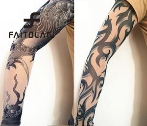 Fashion Thin Spring Summer Sun Protect Women Men Tattoo Print Arm Warmer Long Arm Warmer Party Decor Sleeves