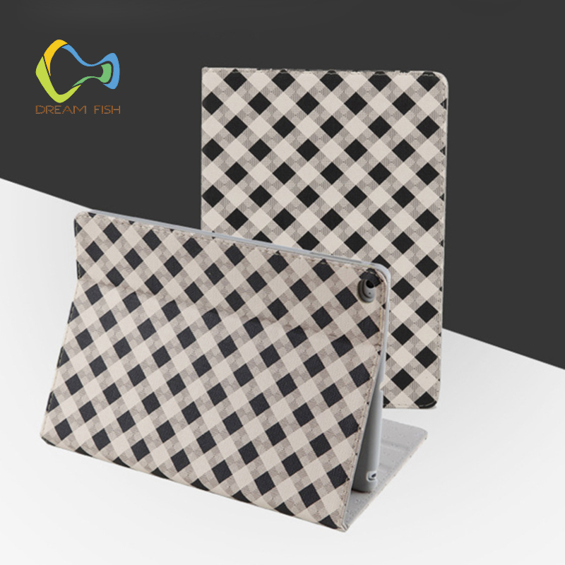 DREAM FISH Luxury Lattice Cover Case For iPad mini 4 PU Leather Protective Auto Sleep/Wake up Case For Apple iPad Tablet