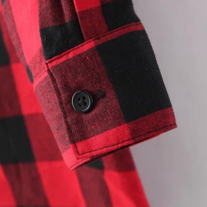HTB1qkSGJFXXXXbbXXXXq6xXFXXXm - Flannel Shirt Women Black And Red Ladie Top Casual Blouse