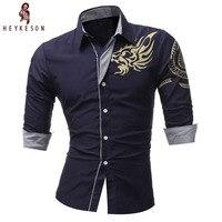 2016 Spring New Men S Long Sleeved Dress Shirt European Dragons Men S Casual Slim Lapel