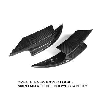 Fibre De Carbone Voiture Avant Pare-chocs Rabat Cupwings Séparateur Latéral Pour BMW F10 M5 Berline 4 Portes Seulement 11-17 Gris FRP